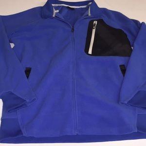 men's blue and black oakley jacket size large